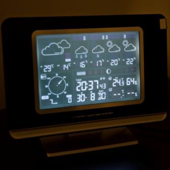 Die internetbasierte Wetterstation WS 580 zeigt die Prognose für 4 Tage an
