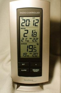 Gutes Display der Temperaturstation von Technoline