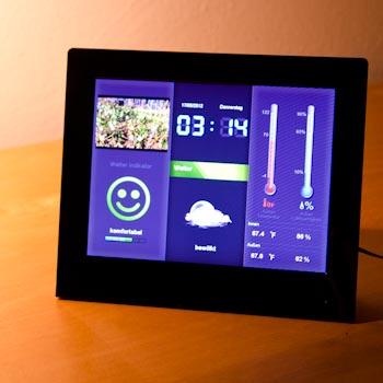 wetterstation weatherstar 8 zoll von intenso im test. Black Bedroom Furniture Sets. Home Design Ideas