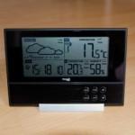 Klare Strukturierung des Displays der Wetterstation
